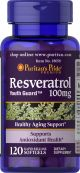Puritan's Pride Resveratrol 100 mg 120 Softgels 18058