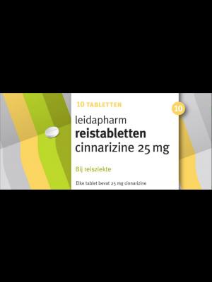 Leidapharm Reistabletten Cinnarizine 25 mg 10 tabletten