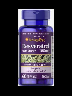 Puritan's Pride Resveratrol 100 mg 60 Softgels 18057