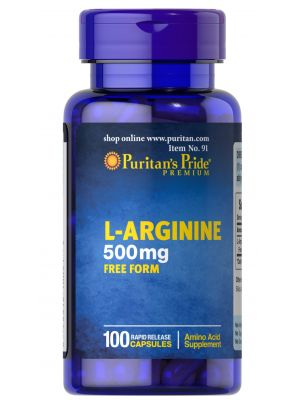 Puritan's Pride L Arginine 500 mg 100 Kapseln 91