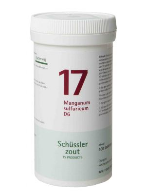 Schüssler salze Pflüger nr 17 manganum sulfuricum D6 400 Tablet glutenfrei