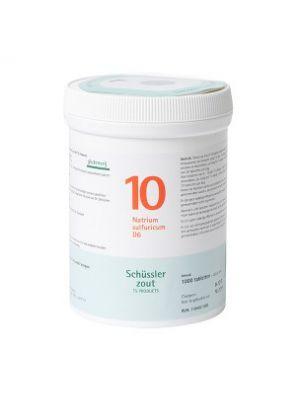 Schüssler salze Pflüger nr 10 Natrium Sulfuricum D6 1000 Tablet glutenfrei