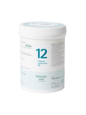 Schüssler salze Pflüger nr 12 Calcium Sulfuricum D6 1000 Tablet glutenfrei