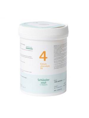 Schüssler salze Pflüger nr 4 Kalium Chloratum D6 1000 Tablet glutenfrei