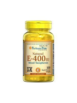Puritan's Pride Vitamin E-400 iu Mixed Tocopherols Natural 100 Softgels 460