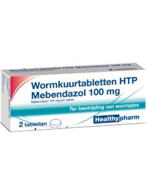 Healthypharm Wurmkur Tabletten HTP Mebendazol 100 mg 6 Stück