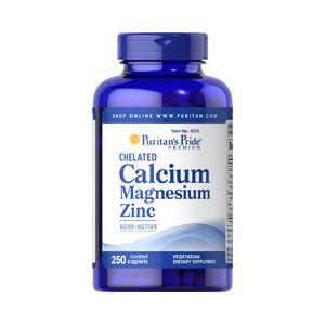 Puritan's Pride Chelated Calcium magnesium Zinc 250 Tabletten 4293