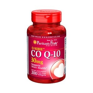 Puritan's Pride Coenzym Q10 30 mg 200 Softgels 7273