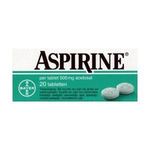 Aspirine 500 mg 20 Tabletten Bayer
