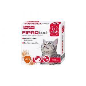 Beaphar Fiprotec gegen Zecken und Flöhe für Katzen 3 Pipetten