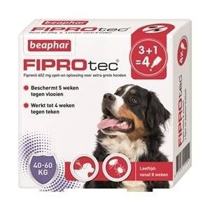Beaphar Fiprodog gegen Zecken und Flöhe 40-60kg 3 Pipetten