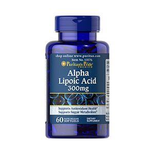 Puritan's Pride Alpha-Liponsäure 300 mg 60 Softgels 13576