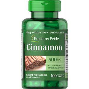 Puritan's Pride Cinnamon 500 mg 100 Kapseln 14020