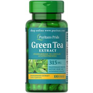 Puritan's Pride Green tea Extract 315 mg 100 Kapseln 3131