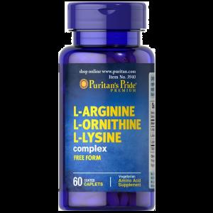 Puritan's Pride L-arginine L-ornithine L-lysine 60 Tabletten 3940