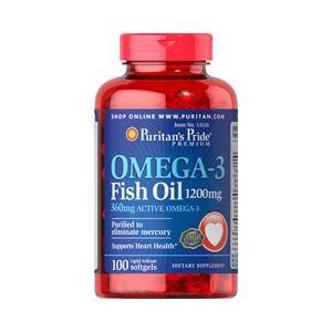 Puritan's Pride Omega 3 visolie 1200 mg 100 Softgels 13326