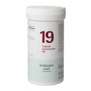 Schüssler salze Pflüger nr 19 Cuprum arsenicosum D6 400 Tablet glutenfrei