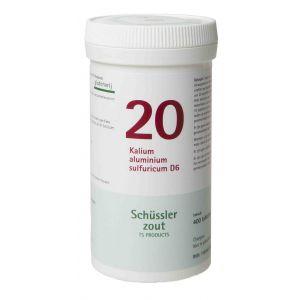 Schüssler salze Pflüger nr 20 Kalium aluminium sulfuricum D6 400 Tablet glutenfrei