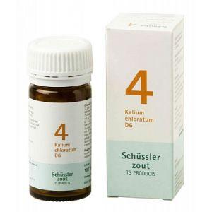 Schüssler salze Pflüger nr 4 Kalium Chloratum D6 100 Tablet glutenfrei